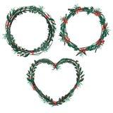 Απομονωμένο σύνολο γιρλαντών Χριστουγέννων Στοκ εικόνα με δικαίωμα ελεύθερης χρήσης