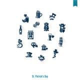 Απομονωμένο σύνολο εικονιδίων Αγίου Patricks ημέρα Στοκ φωτογραφία με δικαίωμα ελεύθερης χρήσης
