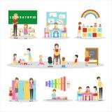 Απομονωμένο σύνολο παιδικών σταθμών απεικόνιση αποθεμάτων