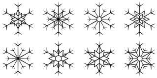 Απομονωμένο σύνολο snowflake Στοκ Εικόνα