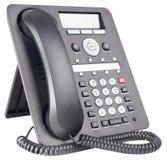 απομονωμένο τηλεφωνικό λευκό Στοκ Εικόνες