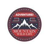Απομονωμένο τρύγος διακριτικό περιπετειών ορειβασίας διανυσματική απεικόνιση
