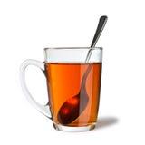 απομονωμένο τσάι κουταλ&i Στοκ φωτογραφία με δικαίωμα ελεύθερης χρήσης