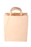 απομονωμένο τσάντα λευκό εγγράφου Στοκ Εικόνα