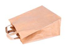 απομονωμένο τσάντα λευκό εγγράφου Στοκ φωτογραφία με δικαίωμα ελεύθερης χρήσης