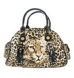 απομονωμένο τσάντα leopard λευκό τυπωμένων υλών Στοκ φωτογραφία με δικαίωμα ελεύθερης χρήσης