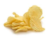 απομονωμένο τσιπ λευκό πατατών Στοκ Εικόνες