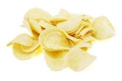 απομονωμένο τσιπ λευκό πατατών Στοκ φωτογραφία με δικαίωμα ελεύθερης χρήσης