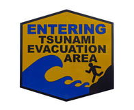 απομονωμένο τσουνάμι σημ&alph στοκ εικόνα
