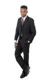 Απομονωμένο τύπος επιχειρησιακό άτομο κοστουμιών και δεσμών στοκ φωτογραφία