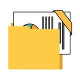 απομονωμένο φάκελλος εικονίδιο αρχείων διοργανωτών Στοκ Φωτογραφίες