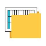 απομονωμένο φάκελλος εικονίδιο αρχείων διοργανωτών Στοκ Εικόνες