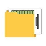 απομονωμένο φάκελλος εικονίδιο αρχείων διοργανωτών Στοκ φωτογραφίες με δικαίωμα ελεύθερης χρήσης