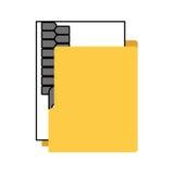 απομονωμένο φάκελλος εικονίδιο αρχείων διοργανωτών Στοκ εικόνα με δικαίωμα ελεύθερης χρήσης