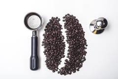 Απομονωμένο φασόλι καφέ για τις επιλογές Στοκ Φωτογραφίες