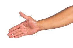 απομονωμένο χέρι αρσενικό Στοκ εικόνες με δικαίωμα ελεύθερης χρήσης