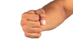 απομονωμένο χέρι αρσενικό Στοκ Εικόνες