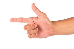 απομονωμένο χέρι αρσενικό Στοκ εικόνα με δικαίωμα ελεύθερης χρήσης