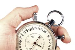 απομονωμένο χέρι χρονόμετρ&o Στοκ φωτογραφία με δικαίωμα ελεύθερης χρήσης