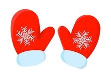 Απομονωμένο Χριστούγεννα εικονίδιο γαντιών Ύφος κινούμενων σχεδίων Διανυσματική απεικόνιση για Στοκ εικόνες με δικαίωμα ελεύθερης χρήσης