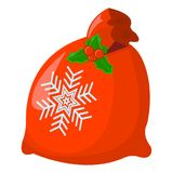 Απομονωμένο Χριστούγεννα εικονίδιο δώρων Ύφος κινούμενων σχεδίων Διανυσματική απεικόνιση για Στοκ Εικόνες