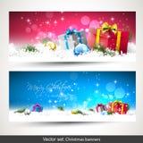 απομονωμένο Χριστούγεννα σύνολο εμβλημάτων Στοκ Εικόνες