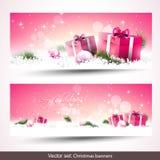 απομονωμένο Χριστούγεννα σύνολο εμβλημάτων Στοκ Εικόνα