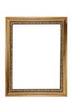 Απομονωμένο χρυσό εκλεκτής ποιότητας πλαίσιο φωτογραφιών Στοκ Εικόνες