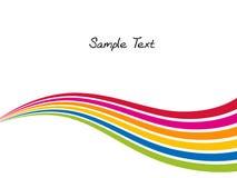 απομονωμένο χρώμα κύμα ουράνιων τόξων αντικειμένου Στοκ Εικόνα