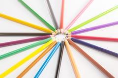 απομονωμένο χρώμα μολύβι Στοκ φωτογραφίες με δικαίωμα ελεύθερης χρήσης