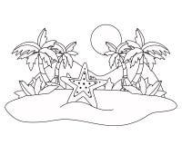 Απομονωμένο ωκεάνιο σχέδιο αστεριών θάλασσας ελεύθερη απεικόνιση δικαιώματος