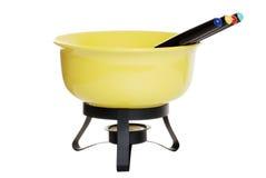 απομονωμένο fondue σύνολο Στοκ εικόνες με δικαίωμα ελεύθερης χρήσης