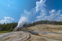 Απομονωμένο Geyser Yellowstone αστεριών Στοκ Φωτογραφία