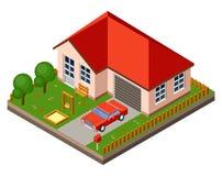 Απομονωμένο isomatic εξοχικό σπίτι διανυσματική απεικόνιση