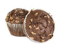 απομονωμένο muffin λευκό Στοκ Εικόνες