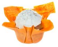 απομονωμένο muffin λευκό Στοκ Φωτογραφίες