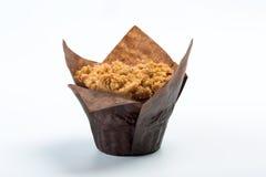 Απομονωμένο muffin στο άσπρο υπόβαθρο Στοκ Εικόνες