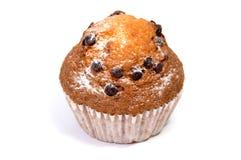 απομονωμένο muffin τσιπ σοκολάτα λευκό Στοκ Φωτογραφίες
