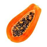 απομονωμένο papaya νωπών καρπών τροπικό λευκό Στοκ φωτογραφίες με δικαίωμα ελεύθερης χρήσης
