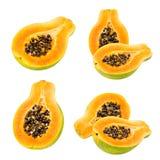 απομονωμένο papaya νωπών καρπών τροπικό λευκό Στοκ εικόνες με δικαίωμα ελεύθερης χρήσης