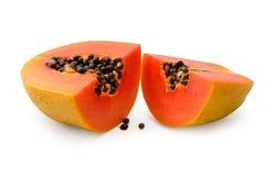 απομονωμένο papaya νωπών καρπών τροπικό λευκό Στοκ Φωτογραφία