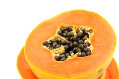 απομονωμένο papaya ώριμο λευκό Στοκ φωτογραφία με δικαίωμα ελεύθερης χρήσης