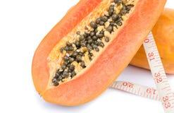απομονωμένο papaya ώριμο λευκό Στοκ εικόνα με δικαίωμα ελεύθερης χρήσης