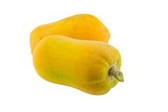απομονωμένο papaya ώριμο λευκό Στοκ εικόνες με δικαίωμα ελεύθερης χρήσης
