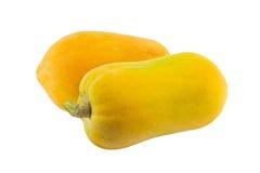 απομονωμένο papaya ώριμο λευκό Στοκ Φωτογραφίες
