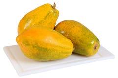 απομονωμένο papaya Στοκ εικόνα με δικαίωμα ελεύθερης χρήσης