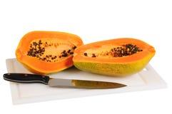 απομονωμένο papaya Στοκ Φωτογραφίες