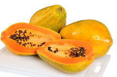 απομονωμένο papaya Στοκ Φωτογραφία