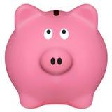 απομονωμένο piggibank ροζ Στοκ Εικόνες