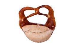 απομονωμένο pretzel λευκό Στοκ Φωτογραφίες